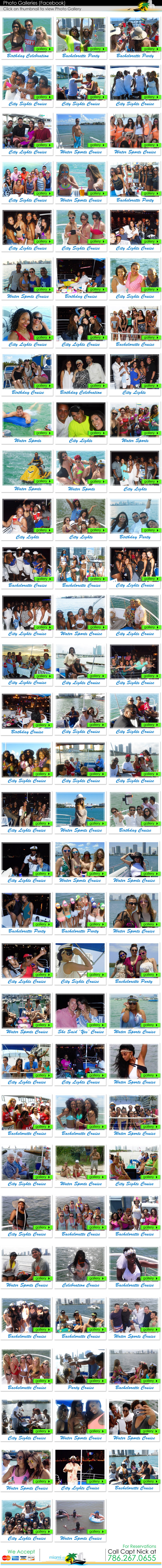 Miami Private Boat Cruises and Charters